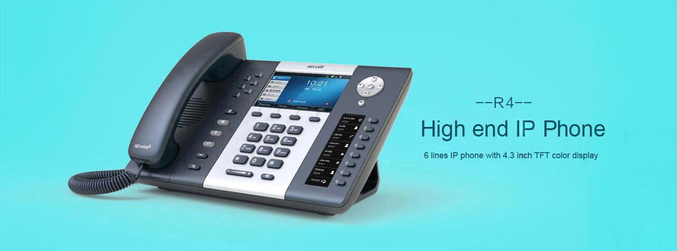 R4 High end IP Phone - R series - Atcom_Ip phone,IP PBX