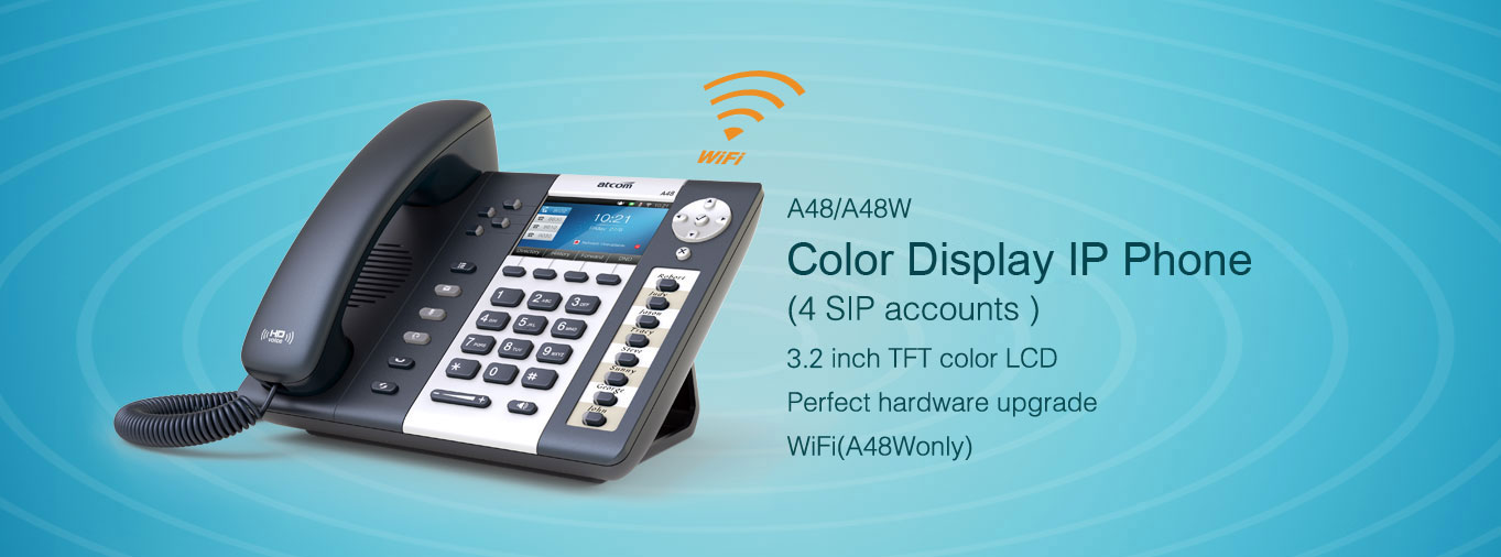 A48W Color display business IP Phone (Support Extension